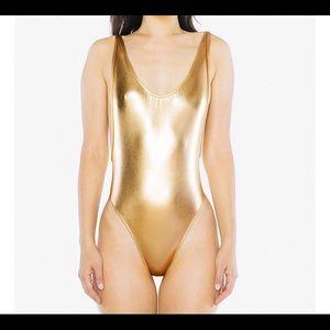 Gold Metallic Leotard